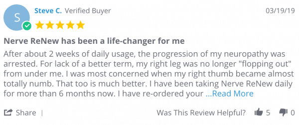 Nerve Renew User Reviews