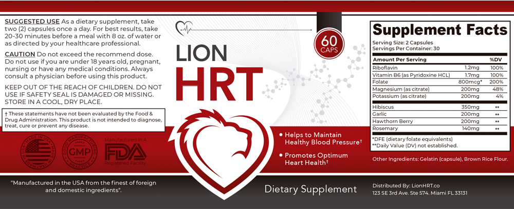 Lion HRT Ingredients