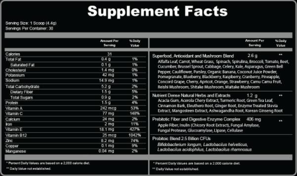 Ultra Boost Juice Superfood Ingredients